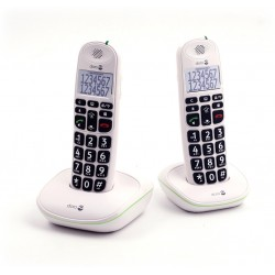 Téléphone sans fil Doro PhoneEasy 110 DUO Blanc