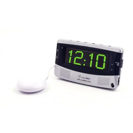 Réveil numérique avec vibreur et double alarme Sonic Boom